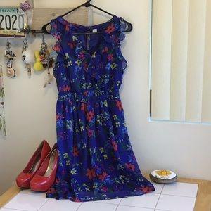 Ruffled Flowery Dress